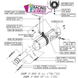 Demi-ligne Leovince au détail Bmw F 800 R /GT 2009-2016