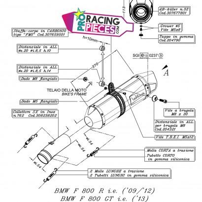 Demi-ligne Leovince Bmw F 800 R /GT 2009-2016