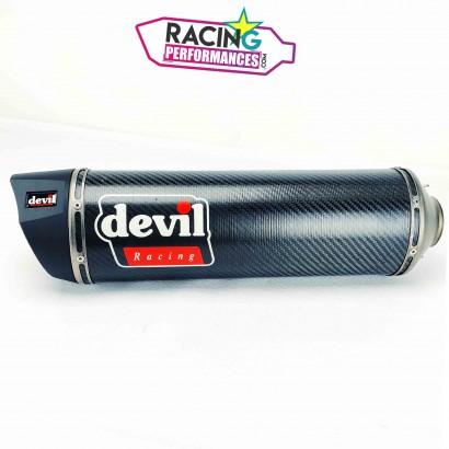 Silencieux d'échappement Devil Racing Carbone 360mm ø50mm/ø55mm