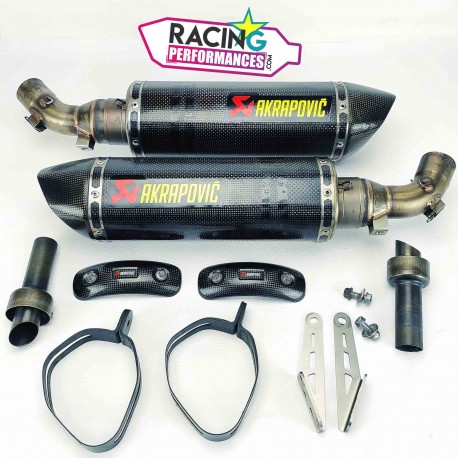 Demi-ligne akrapovic carbone ducati 696|796|1100 Monster 2008-2014