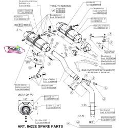 Demi-Ligne Leovince 8422E Yamaha FZ6 | Fazer 2004-2011 au détail